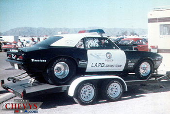 classic chevy camaro drag racer lapd